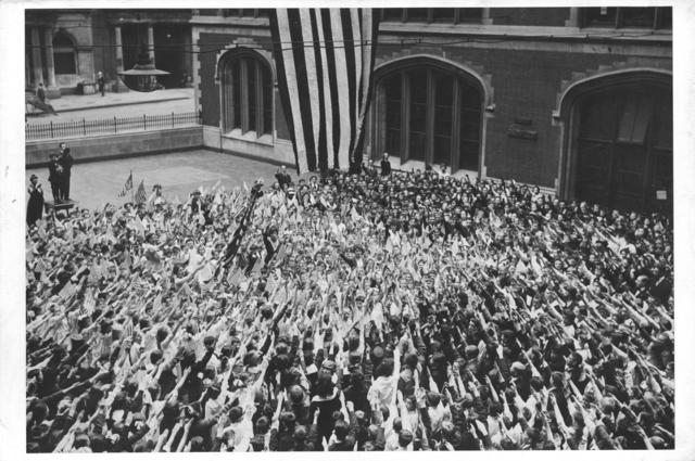 Ceremonies - Flag Day, 1918 - New York School Children swearing allegiance to the flag