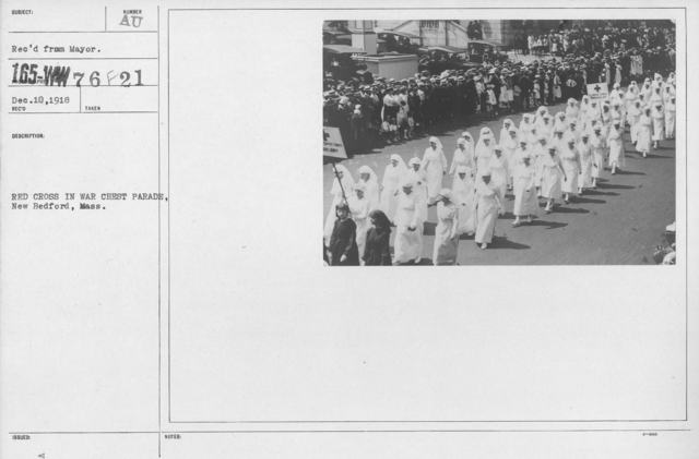 Ceremonies - Massachusetts - Red Cross in War Chest Parade, New Bedford, Mass