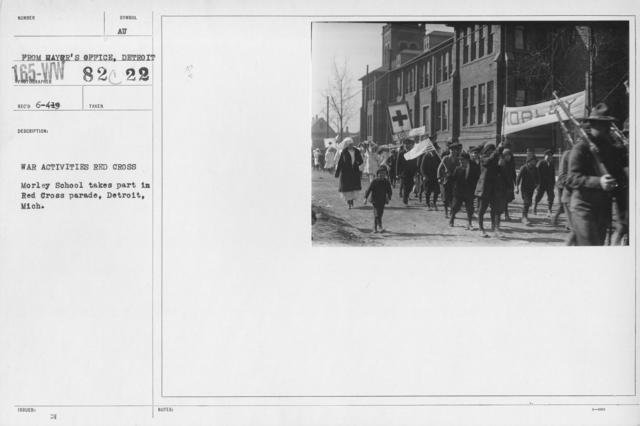 Ceremonies - Michigan thru New Jersey - War activities Red Cross. Morley School takes part in Red Cross parade, Detroit, mich