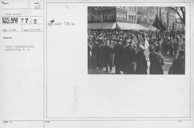 Ceremonies - New Hampshire (Peace Demonstrations) - Peace Demonstration, Manchester, N.H