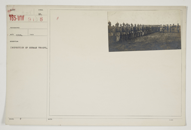 Ceremonies - Review in Theatre of Operations - Italian Army and Miscellaneous Reviews - Inspection of German troops