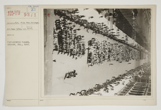 Ceremonies - Salutes and Parades - Illinois - Preparedness Parade, Chicago, Illinois, 1916