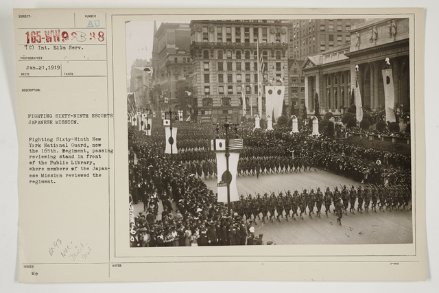 Ceremonies - Salutes and Parades - New York - Fighting sixty-ninth escorts Japanese mission