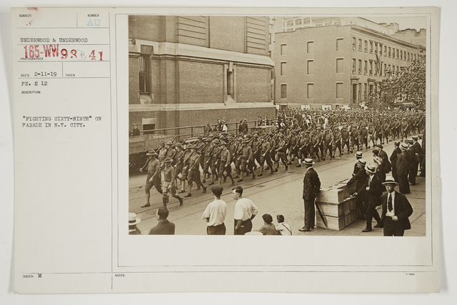 "Ceremonies - Salutes and Parades - New York - ""Fighting Sixty-Ninth"" on parade in New York City"