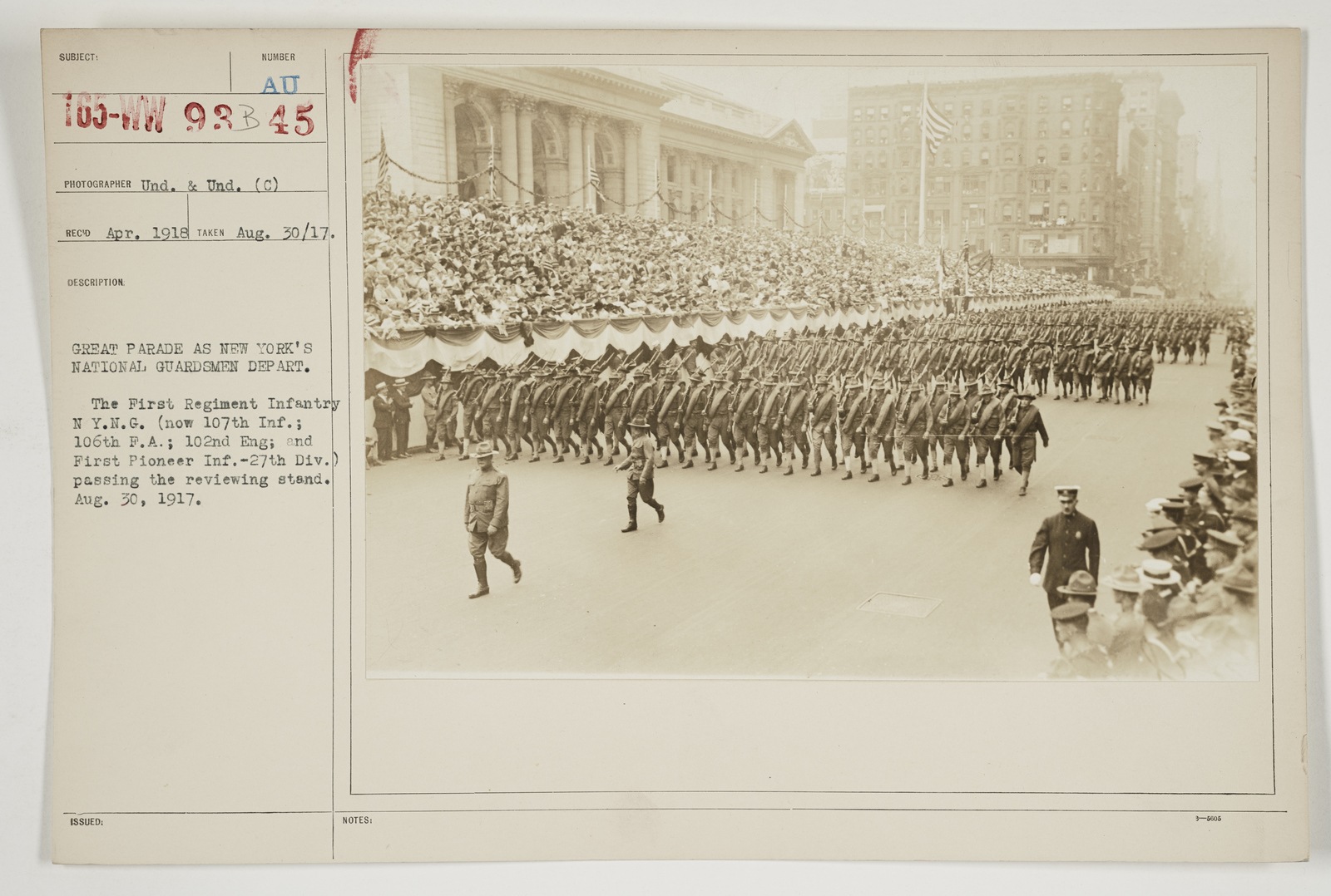 Ceremonies - Salutes and Parades - New York - Great Parade as New York's National Guardsmen depart