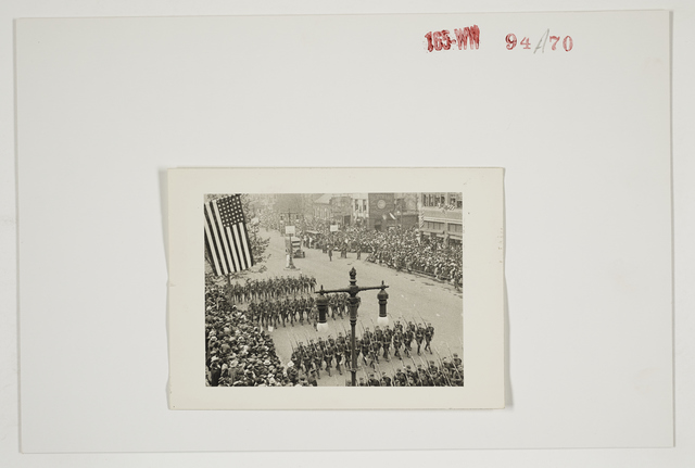 Ceremonies - Salutes and Parades - New York - Welcoming Home Parade of the 28th Division at Philadelphia, Pennsylvania