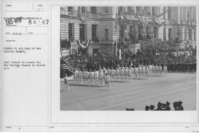 Ceremonies - War Savings Stamps - Parade to aid sale of war savings stamps. Tall Cedars in parade for War Savings Stamps at Newark N.J