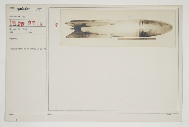 Chemical Warfare Service - Equipment - Miscellaneous - Incendiary drop bomb Mark II
