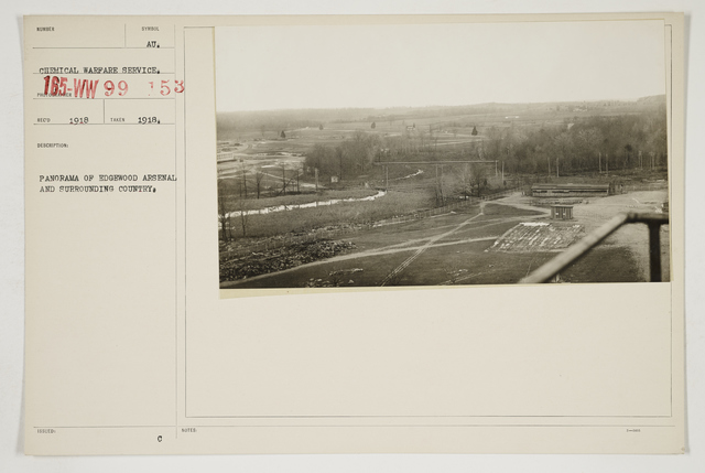 Chemical Warfare Service - Plants - Edgewood Arsenal - Panorama of Edgewood Arsenal and surrounding country