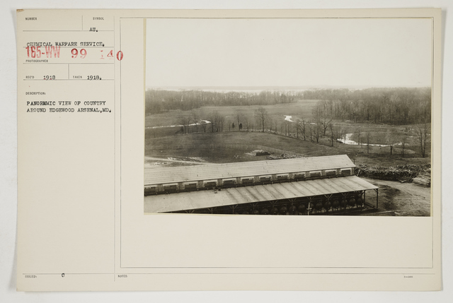 Chemical Warfare Service - Plants - Edgewood Arsenal - Panoramic view of country around Edgewood Arsenal, Maryland