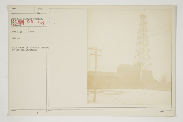 Chemical Warfare Service - Plants - Edgewood Arsenal - Salt wells of Edgewood Arsenal at Midland, Michigan