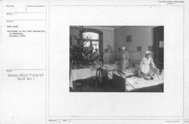 Christmas in the Park Restaurant. In Montmedy. December 1917