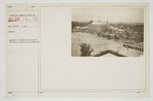 Colleges and Universities - American University, Washington D.C. - Buildings, Grounds, and Personnel - Bureau of Mines Experiment Station, American University
