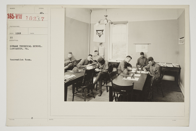 Colleges and Universities - Bowman Technical School - Bowman Technical School,  Lancaster. Pennsylvania.  Recreation Room
