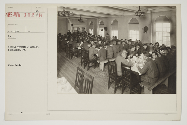 Colleges and Universities - Bowman Technical School - Bowman Technical School, Lancaster, Pennsylvania.  Mess Hall