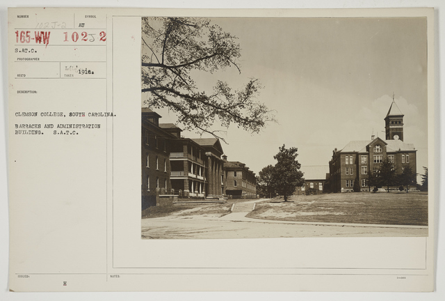Colleges and Universities - Clemson - Clemson College, South Carolina.  Barracks and Administration Building.  S.A.T.C