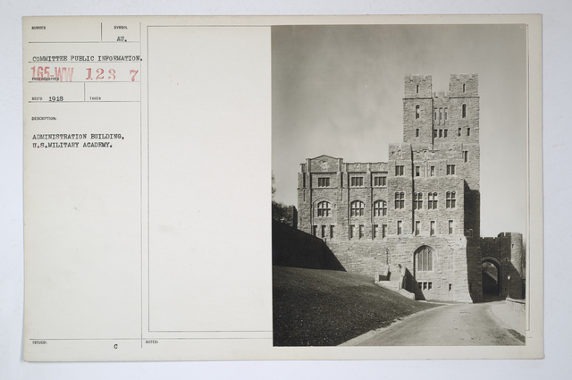 Colleges and Universities -West Point - Administration Building, West Point Military Academy