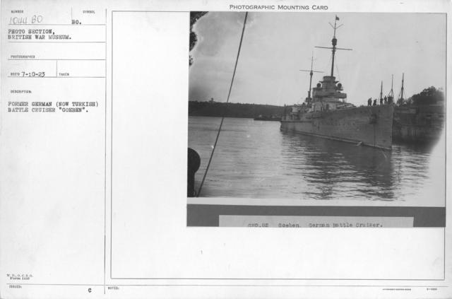 """Former German (Now Turkish) battle cruiser """"Goeben"""""""