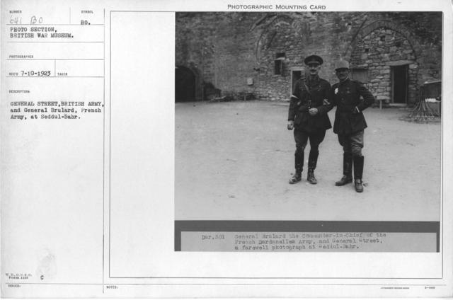 General Street, British Army, and General Brulard, French Army, at Seddul-Bahr