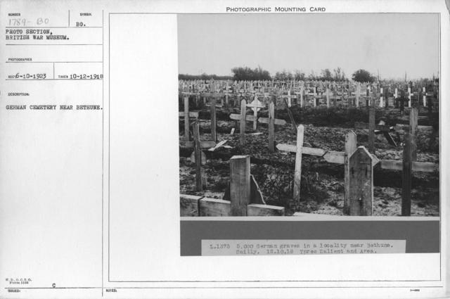 German cemetery near Bethune