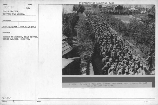 German prisoners, near Proven, Ypres Salient, Belgium. 8-16-1917