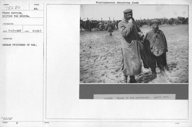 German prisoners of war. April 1917