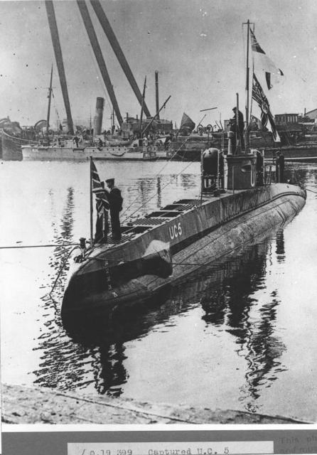 German U.C. 5, captured by British