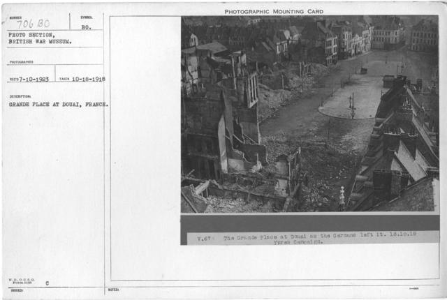 Grande Place at Douai, France. 10-18-1918
