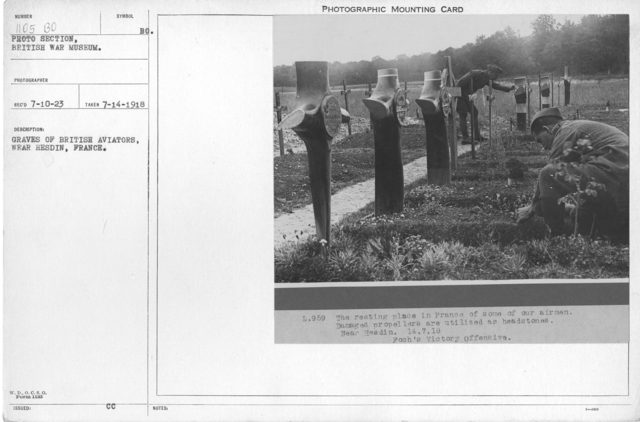 Graves of British aviators, near Hesdin, France