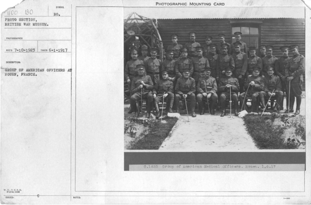 Group of American officers at Rouen, France