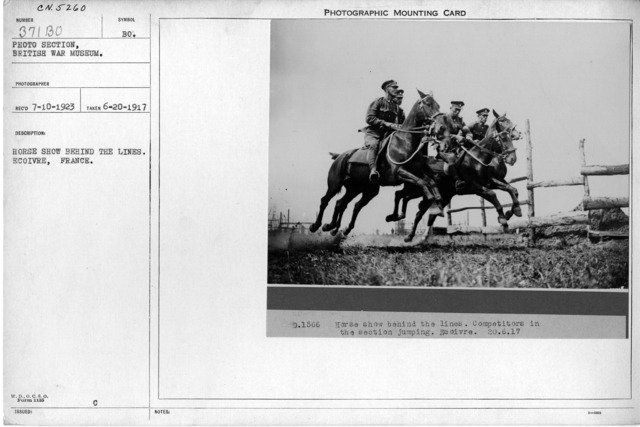 Horse show behind the lines. Ecoivre, France; 6/20/1917