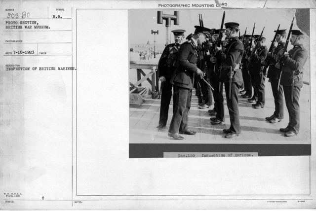 Inspection of British Marines