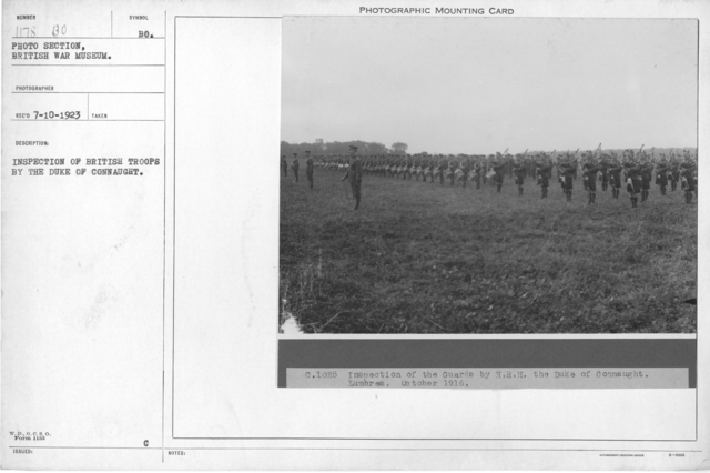 Inspection of British troops by the Duke of Connaught