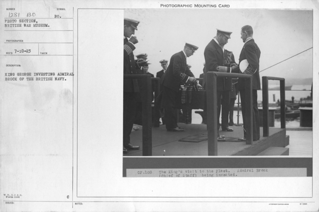 King George investing Admiral Brock of the British Navy