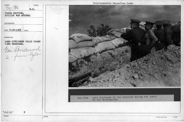 Lord Kitchener visit front line trenches
