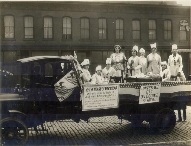 Missouri Women Demonstrate War Bread on City Streets, St. Louis