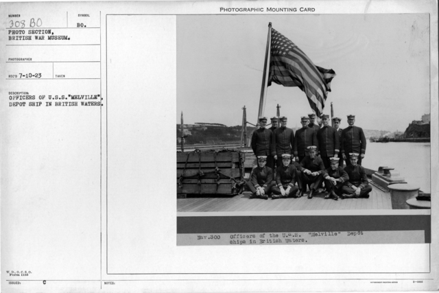 "Officers of U.S.S. ""Melville"", Depot Ship in British Waters"
