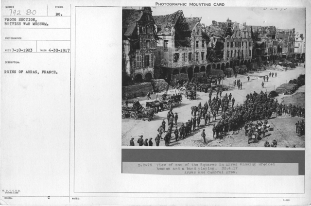 Ruins of Arras, France. 4-30-1917