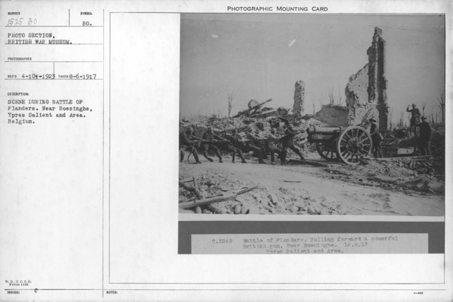 Scene during the Battle of Flanders. Near Boesinghe, Ypres Salient and Area. Belgium. 8-16-1917