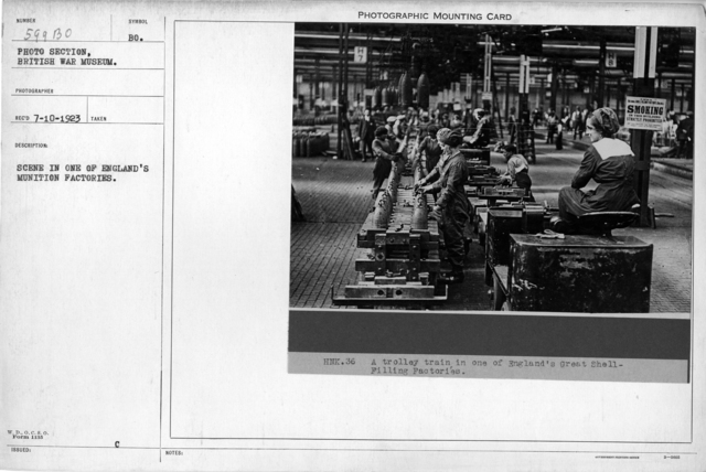 Scene in one of England's munition factories