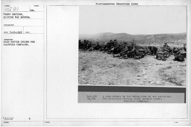 Sham battle during the Salonika Campaign