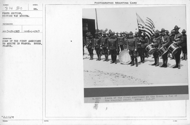 Some of the first Americans to arrive in France. Rouen, France. 6-1-1917