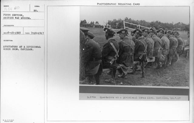 Spectators at a Divisional Horse Show. Cavillon. 7-18-1917