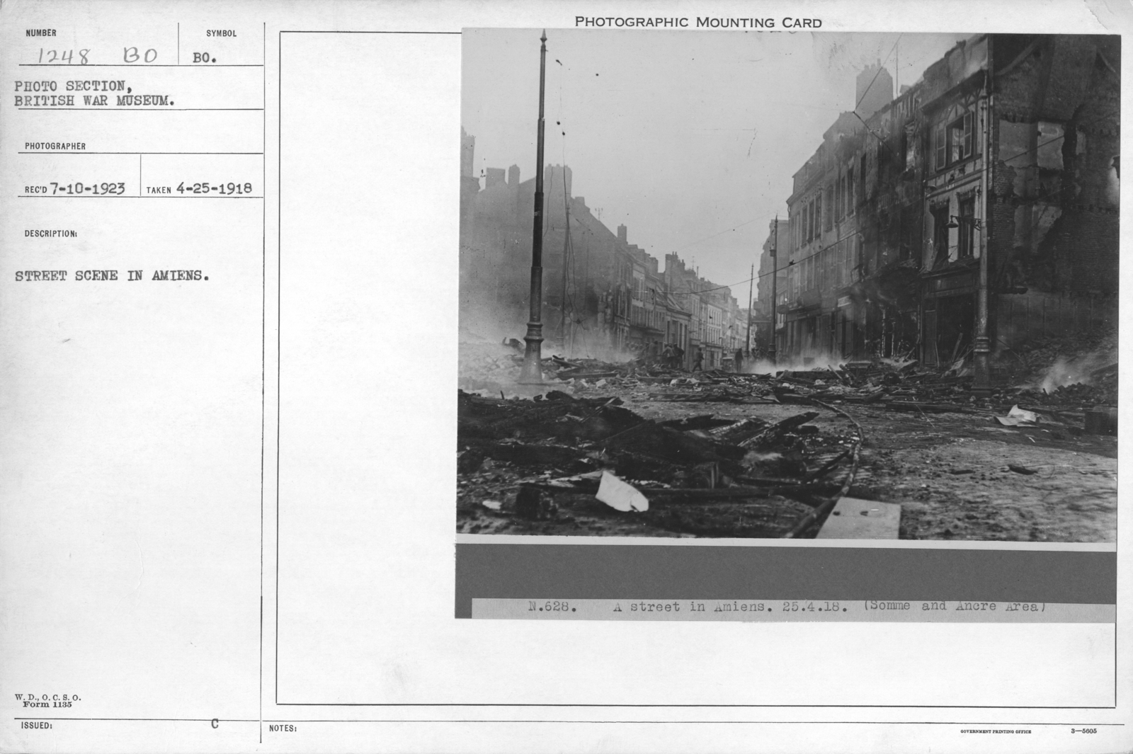 Street scene in Amiens. 4-25-1918