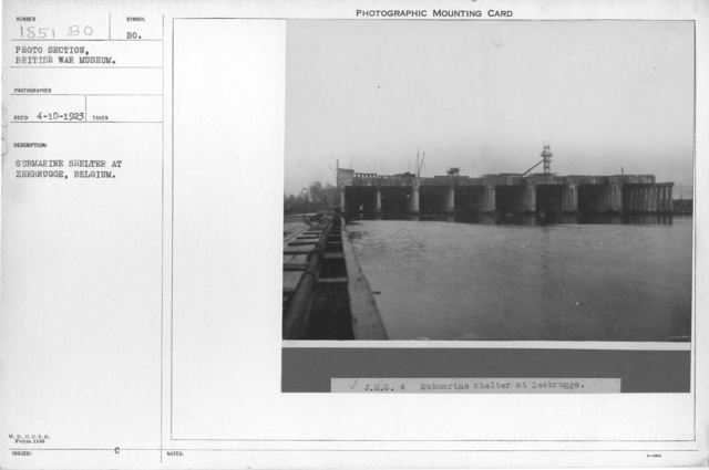 Submarine shelter at Zeebrugge, Belgium