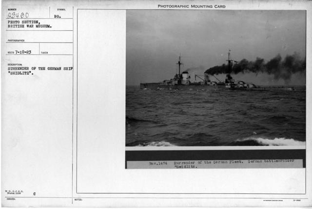 "Surrender of the German Battle Cruiser ""Seidlitz"""
