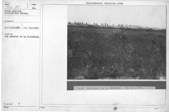The assault on La Boisselle. 7-1-1916