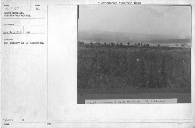 The assault on La Boisselle
