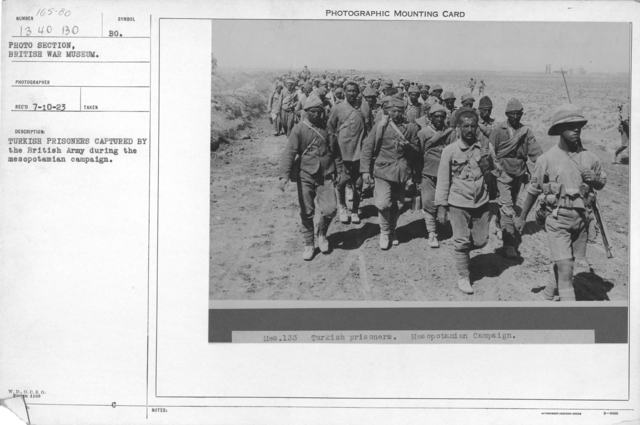 Turkish prisoners captured by the British army during the Mesopotamian campaign