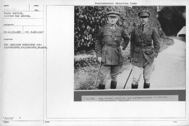 Two American newspaper correspondents. Rollencourt, France